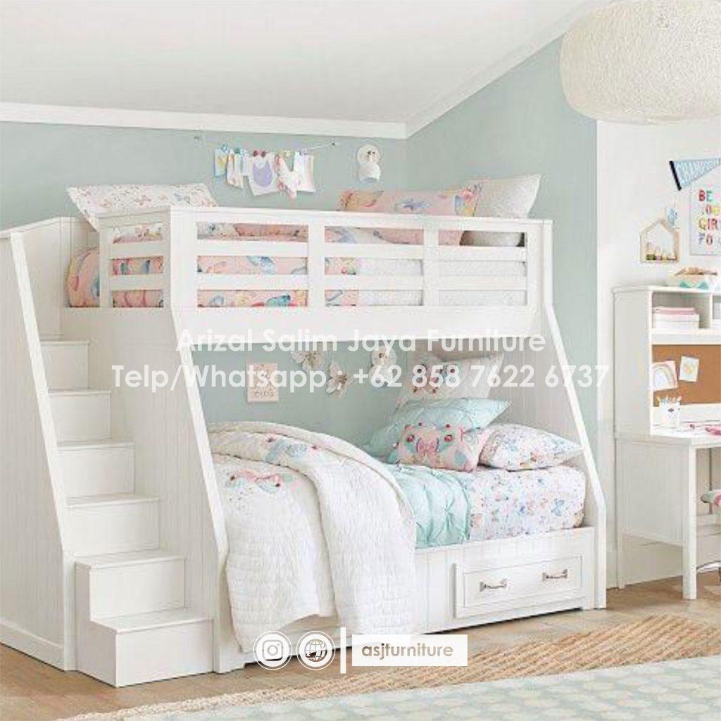 Tempat Tidur Tingkat Anak Putih Murah