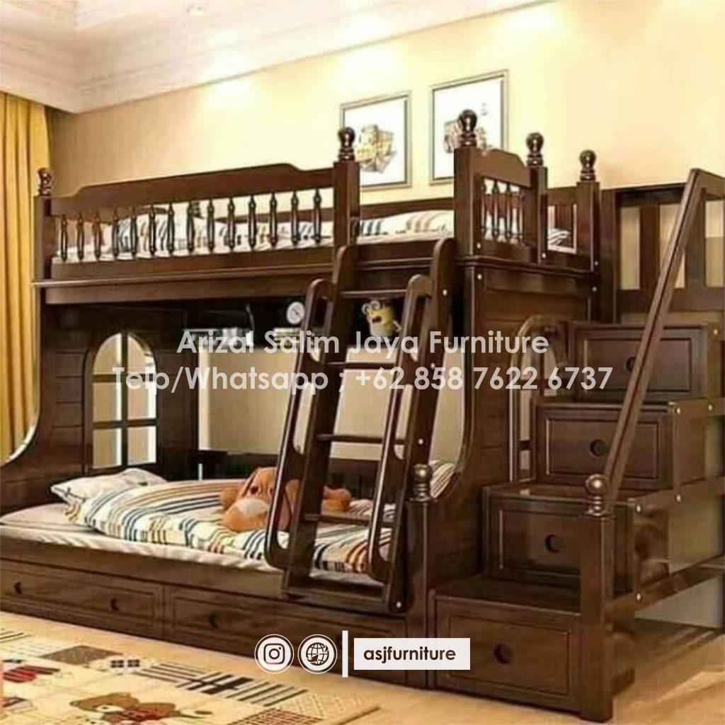 Tempat Tidur Tingkat Anak Jati Jepara