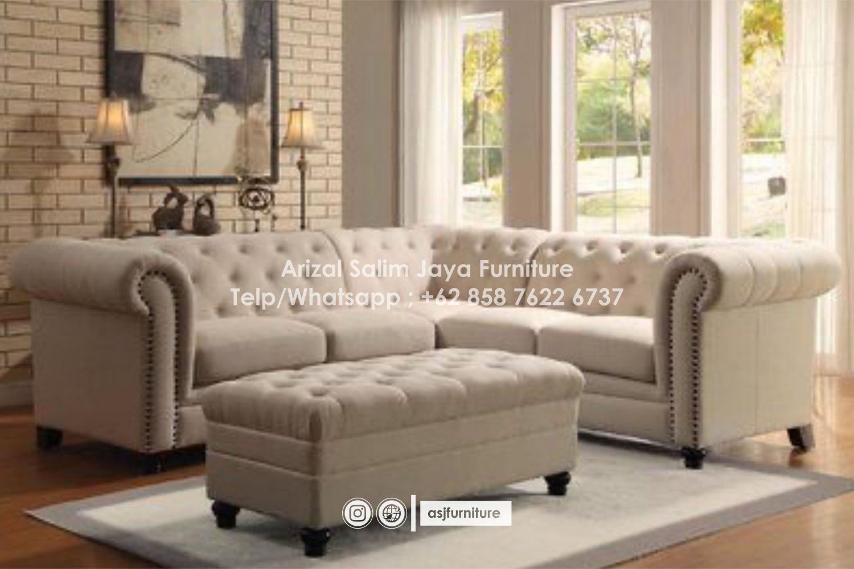 Sofa Tamu Chesterfield Sudut