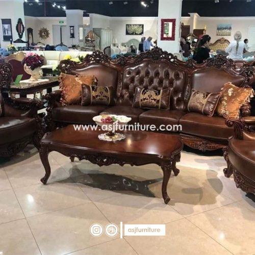 Sofa Tamu Jati Klasik Mewah