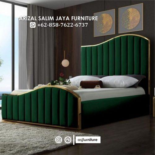 Tempat Tidur Sandaran Minimalis Mewah